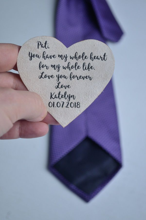 Father Of The Bride Gift For Father Tie Patch Wedding Day Labels
