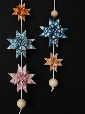 christmas danish paper stars link to tutorial