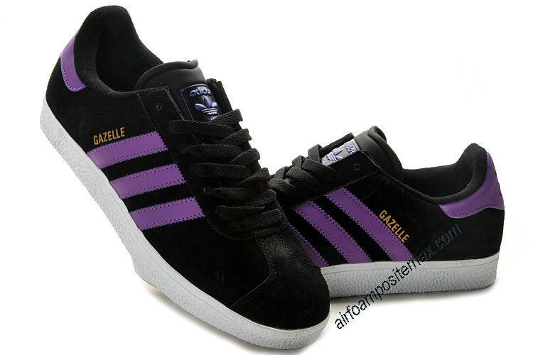 Desafortunadamente Mirar furtivamente derrochador  Adidas Gazelle 2 Black Club Purple White | Zapas