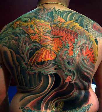Tattoos traditional japanese dragon tattoos page 4 for Japanese koi dragon