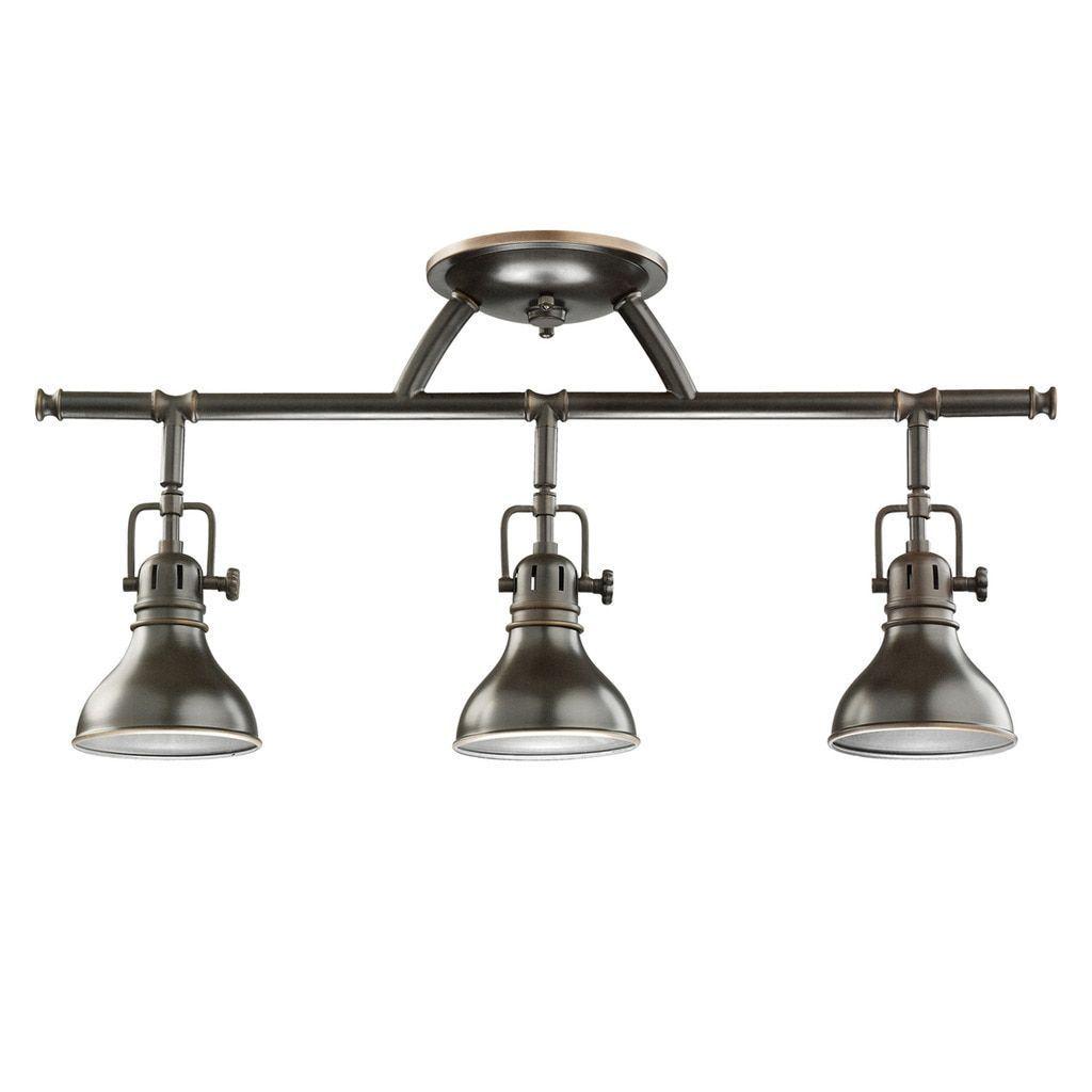 Kichler Lighting Hatteras Bay Collection 3-light Olde Bronze Halogen Rail Light