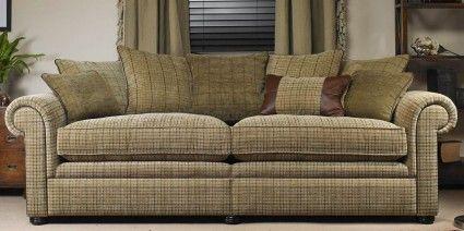 Sofa Mart Wade Barnaby Fabric Grand Sofa Split Scatter Back BARNABYSB Encore fibre seat cushions