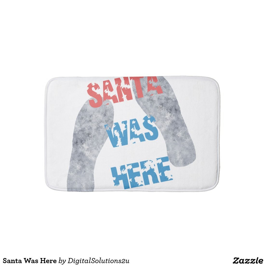 Santa Was Here Bathroom Mat