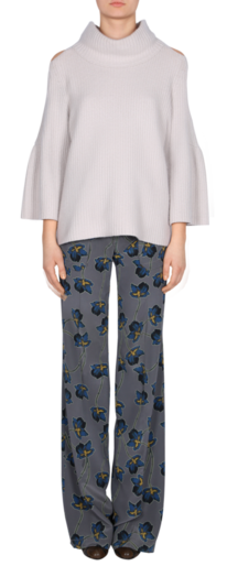 UNEXPECTED BLOSSOM straight wide leg pants Hosen | Dorothee Schumacher Onlineshop