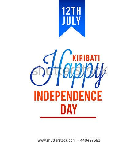 Vector illustration,banner or poster for Kiribati Independence Day.  12 de julio. Independencia de Kiribati.