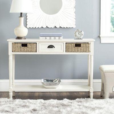 Terrific Safavieh Winifred Console White Wayfair Want White Bralicious Painted Fabric Chair Ideas Braliciousco