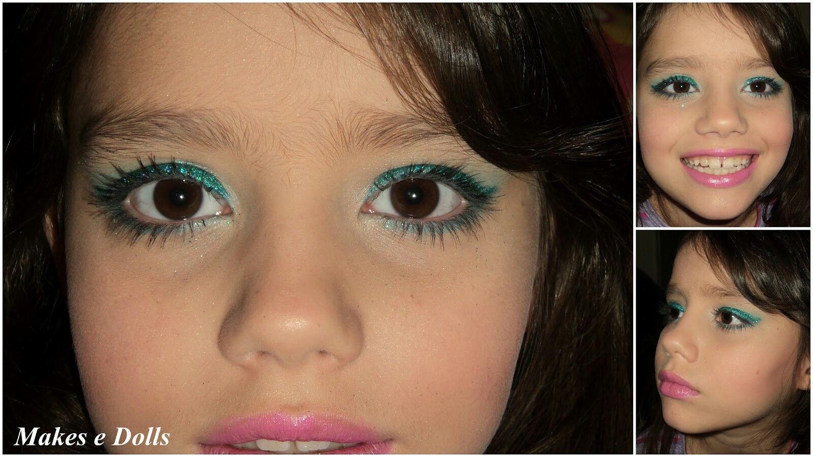 Maquiagem verde para criança