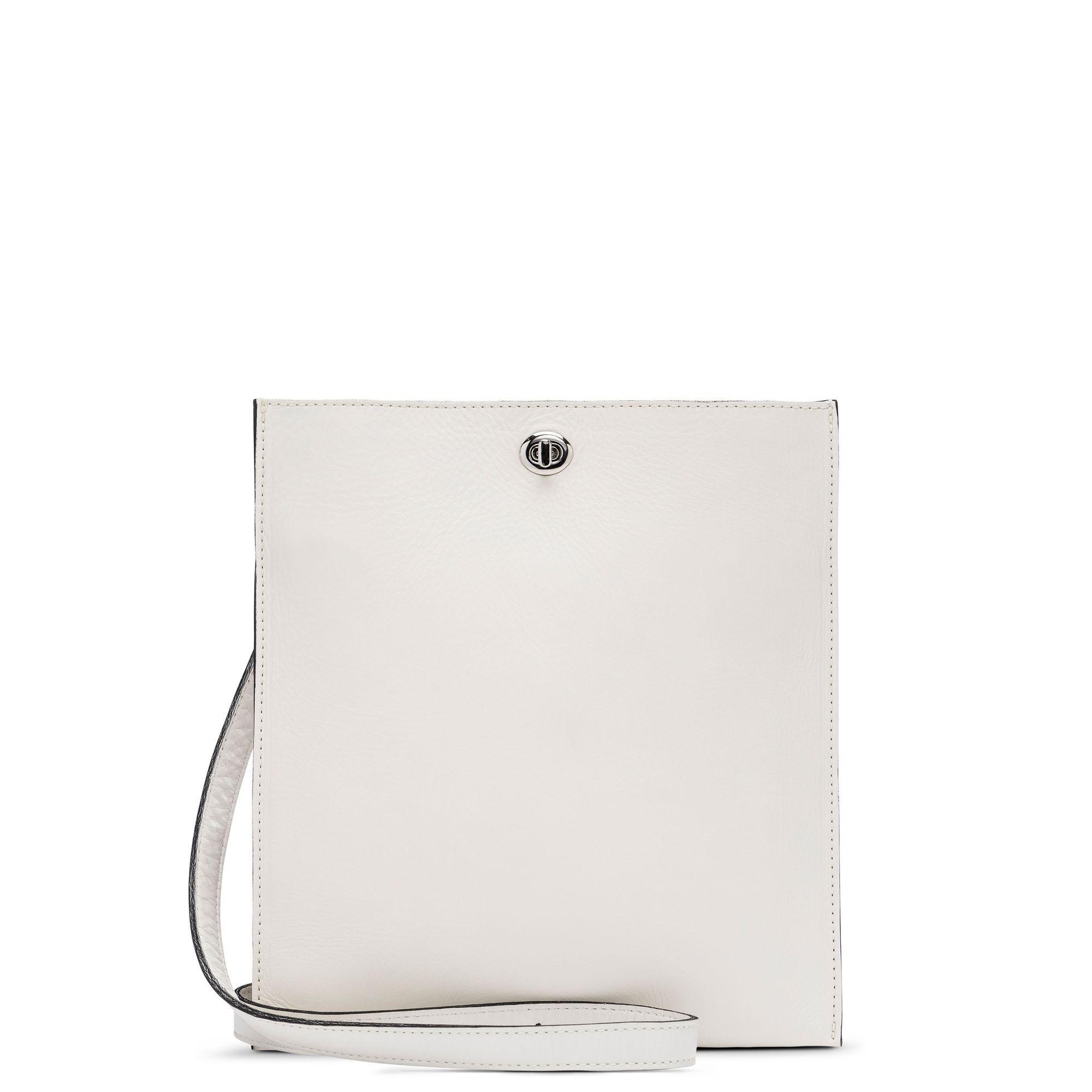 1592f1dbdea0 FL 65. m0851. Off White. Leather. Flat Bag. | Fashion Inspiration ...