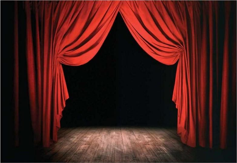 Behind The Curtain Is Magic Theatre Theatrical Scenery