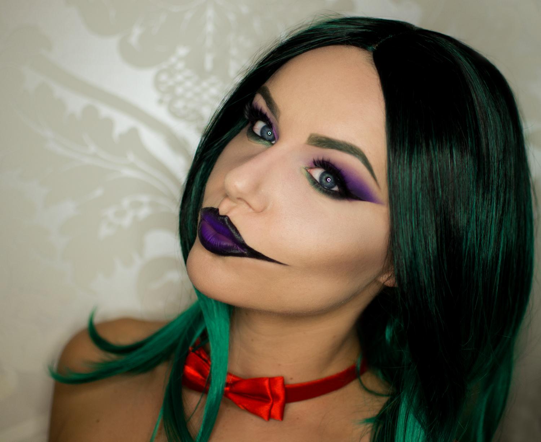 joker girl makeup tutorial - Joker Halloween Costume For Females
