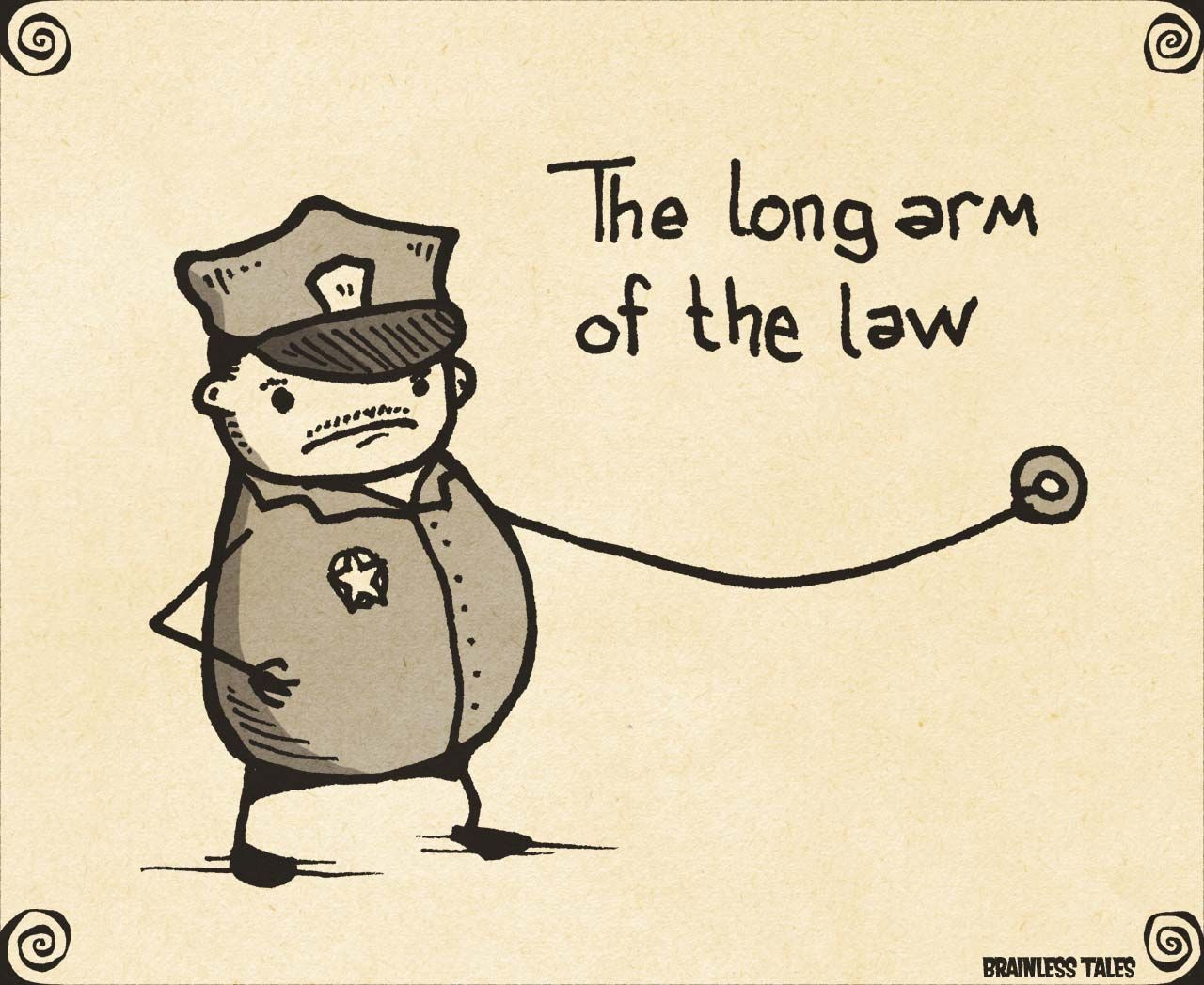 Long Arm Of The Law Funny Puns Comic Art Chicken Jokes