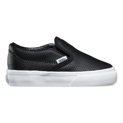 slip-on perforated leather uppers
