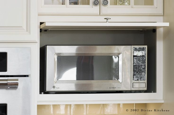 microwave placement in kitchen designs | Traditional Kitchen ...