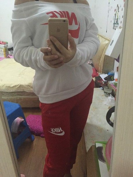 red nike tracksuit