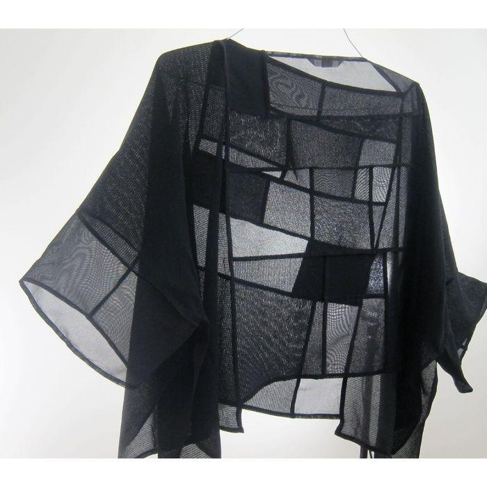 Beschreibung: Verwendet japanische Antike Kimono Ro-Silk und Sha-Silk Fabric.Seams und Moire sind Teil design.Dimensions: H: 22.00 x B: 49,00 x T: 0,50 Zoll