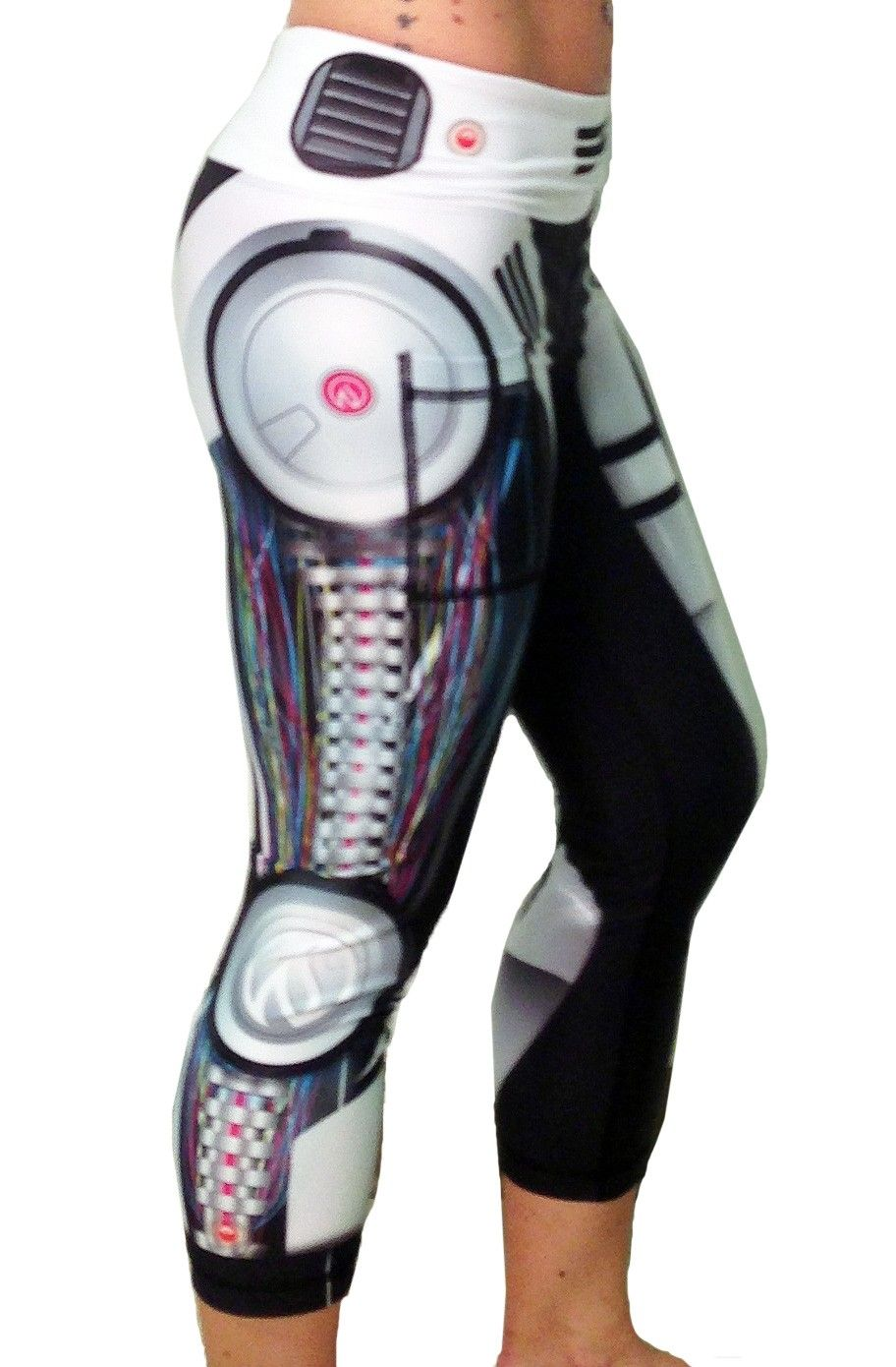 Women's Robot Capris Side - So tempted to get these for Halloween via Ink Burn