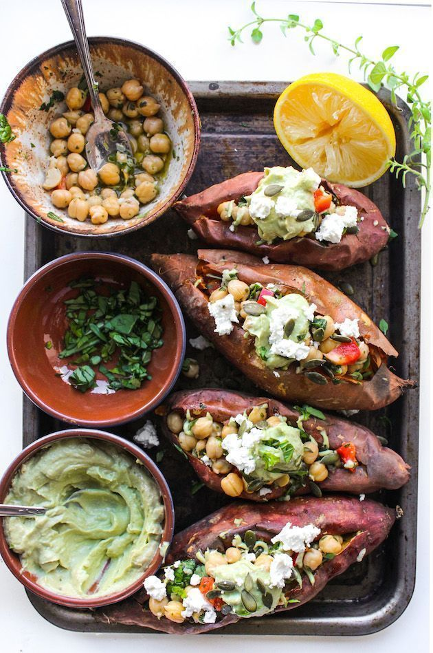Stuffed Sweet Potatoes with Chickpeas & Avocado Tahini (A Saucy Kitchen) Mediterranean Stuffed Sweet Potatoes with Chickpeas & Avocado Tahini | A Saucy Kitchen | Bloglovin'Mediterranean Stuffed Sweet Potatoes with Chickpeas & Avocado Tahini | A Saucy Kitchen | Bloglovin'