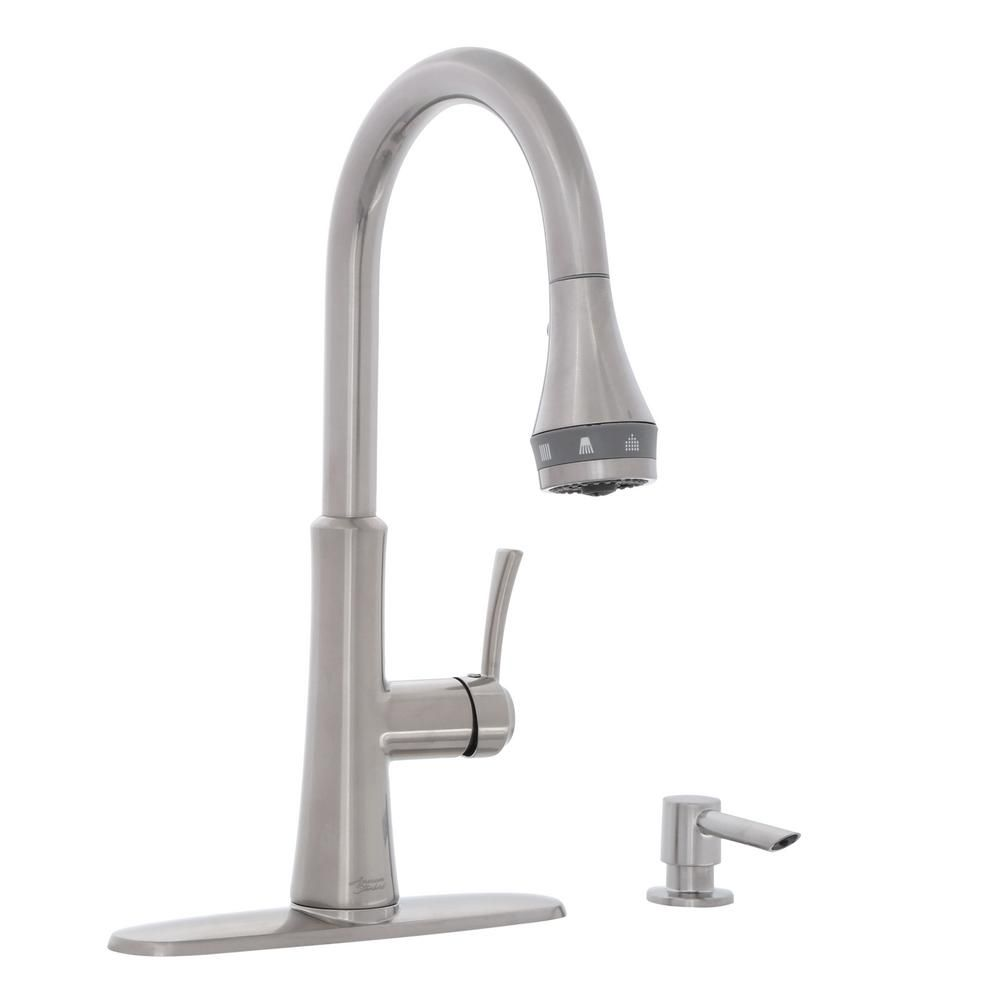 American Standard Huntley Selectflo Single Handle Pull Down Sprayer Kitchen Faucet In Stainless Steel 7009ssf Bar Faucets Faucet Stainless Steel Kitchen