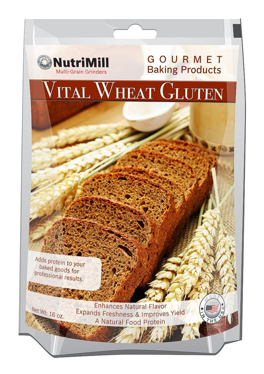 NutriMill Vital Wheat Gluten 16 oz Wheat gluten, Foods