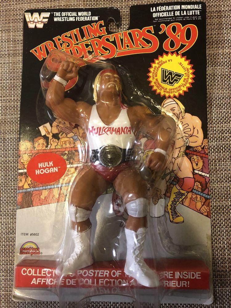"""WWF WWE LJN Vintage 8"""" Hulk Hogan white shirt black card"""