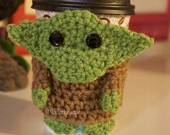 Cup Cozys Star Wars On Etsy A Global Handmade And Vintage Marketplace Crochet Coffee Cozy Crochet Mug Cozy Cup Cozy