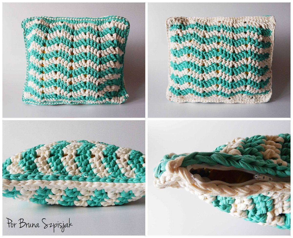 Quadro de imagens | cojines | Pinterest | Crochet, Knitting y Zig zag