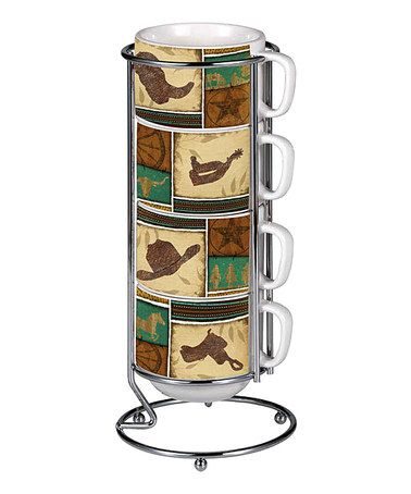 Take a look at this Cowboy Up! 14-Oz. Mug Set by Cypress Home on #zulily today!