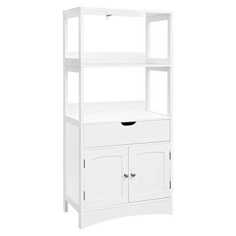 VASAGLE Bathroom Storage with Drawer, 2 Open