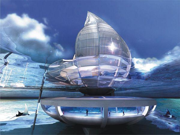 Modern Architecture Orlando water building resortorlando de urrutia | futuristic interiors