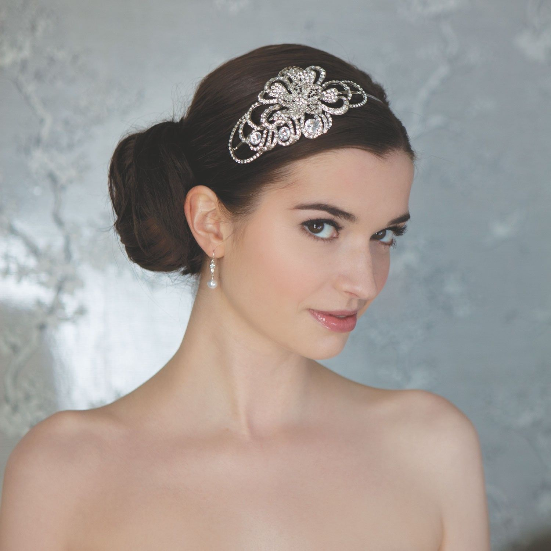 Accessoires cheveux mariage fleurs en strass - Instant Précieux