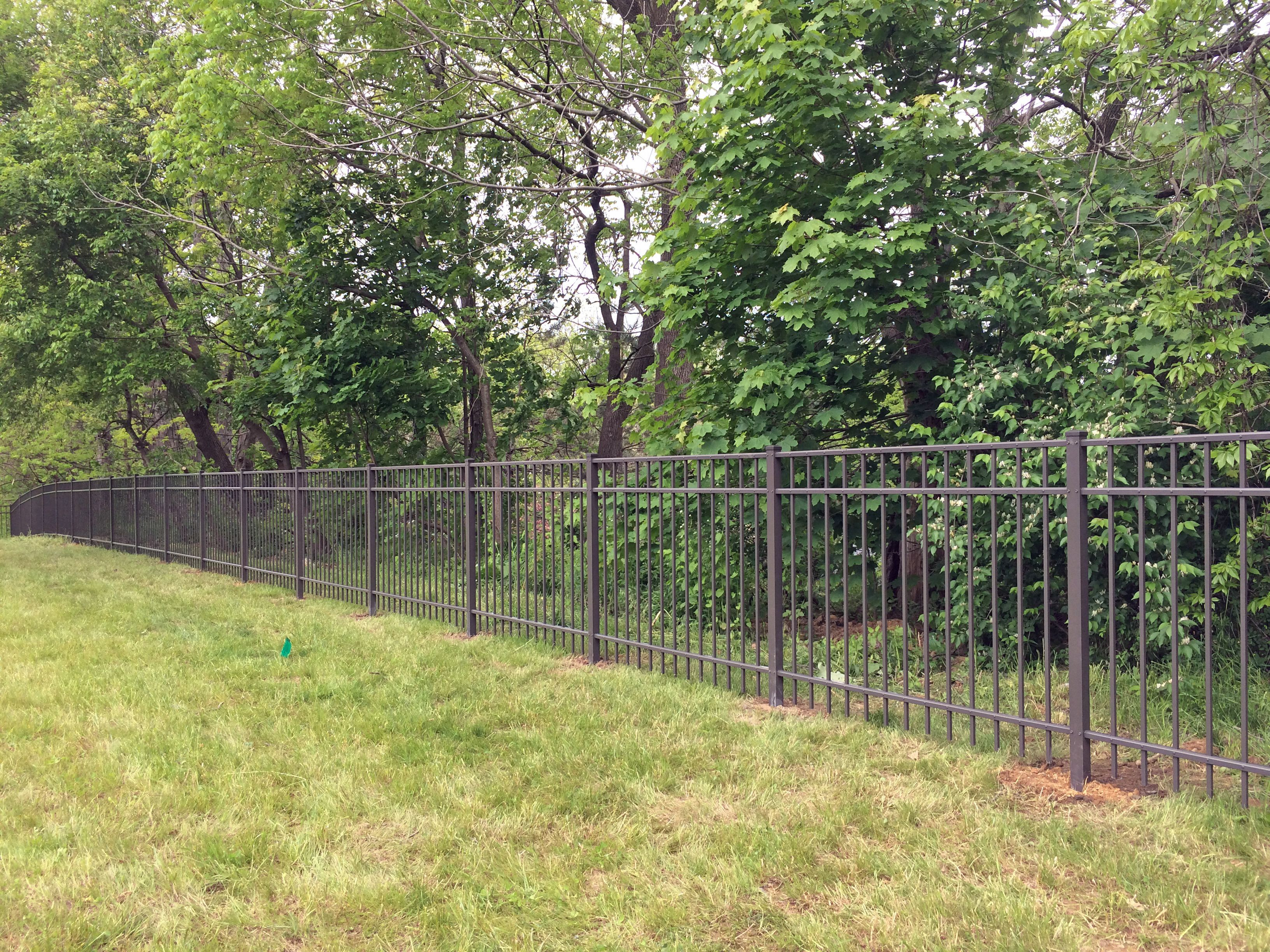 Country Estates Bronze Aluminum Fencing Backyard Fences Fence