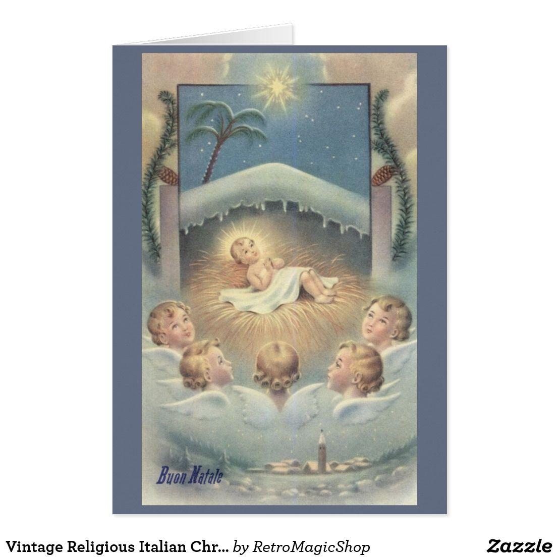 Vintage religious italian christmas greeting card vintage vintage religious italian christmas greeting card kristyandbryce Images