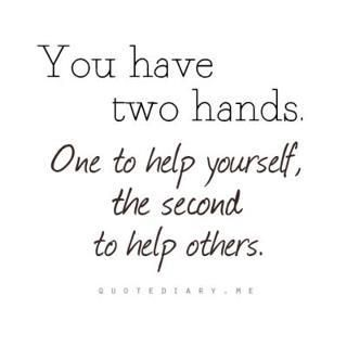 Hands You Have To Help   Favorite Quotations And Sayings