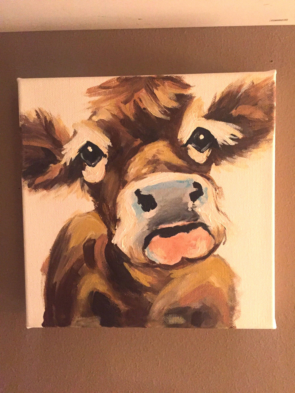 Pin By Jeri Dixon On Painting Farm Animal Painting Animal Canvas Acrylic Painting Canvas
