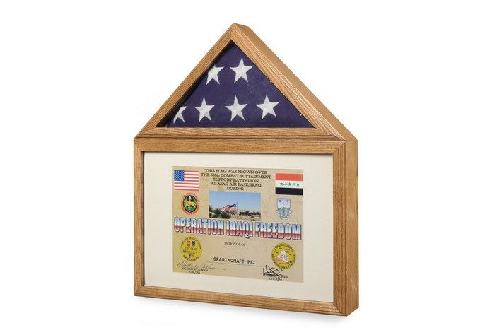 Large Flag And Certificate Display Case | Flag Display Cases, Burial ...