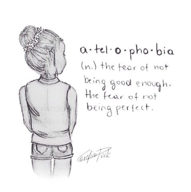 The Fear Of Not Being Perfect Fear Be Perfect Photo
