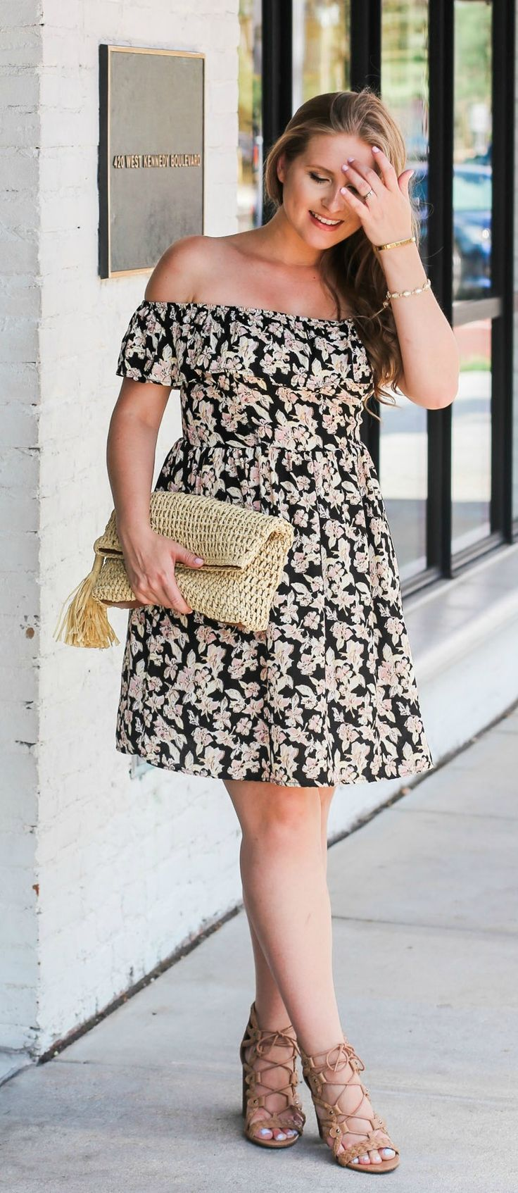 e0ca451d04480 Loving this affordable floral dress for summer can you believe this fit and  flare sun jpg