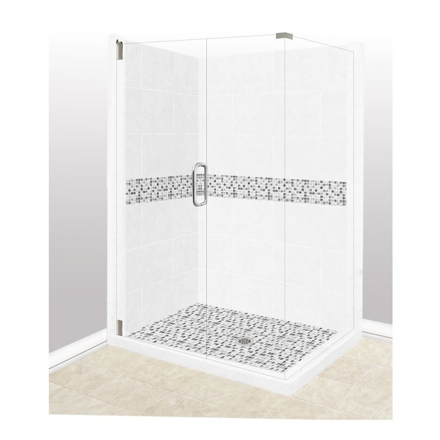 36 x 36 corner shower stall. American Bath Factory Laguna Light With Mosaic Tiles Sistine Stone  Wall Composite Floor Rectangle 10 Piece Corner Shower with