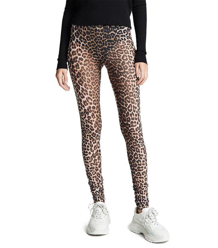 8d55c4e2ae067 Ganni Printed Mesh Pants Leopard Print Leggings, Mesh Pants, India Fashion, Harem  Pants