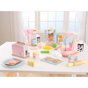 Pack Electrodomesticos Cocina | Kidkraft 4 Pack Pastel Play Kitchen Accessories Play Kitchen