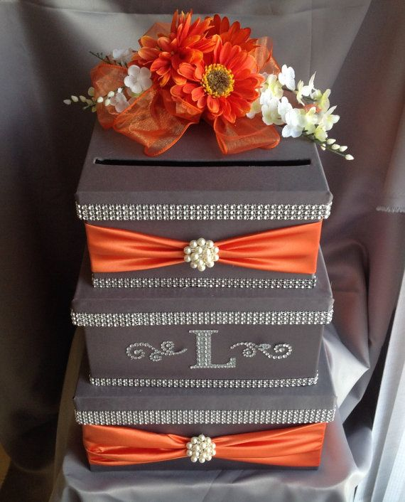 Card box idea could be done with plain nice box in fall color – Fall Wedding Card Boxes