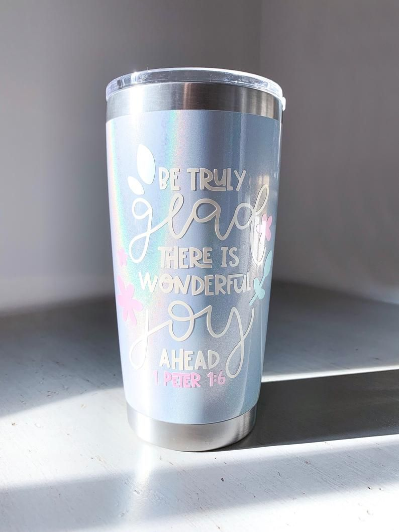 Photo of Holographic travel coffee mug | Wining & Designing, Co.