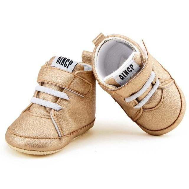 f7cc91d3f0cb Autumn Winter Baby PU Shoes Toddler Newborn First Walkers Kids Boy Girl  Soft Sole Canvas Sneaker 0-12Months