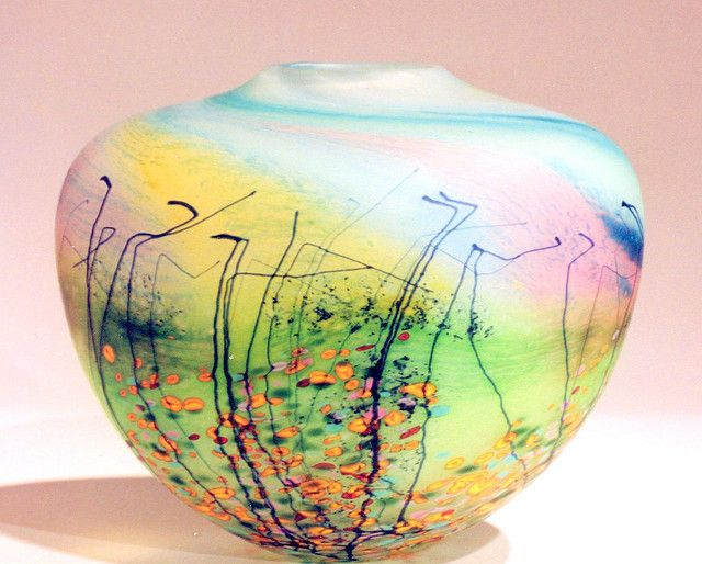 'Blossom' Vase by Peter Layton