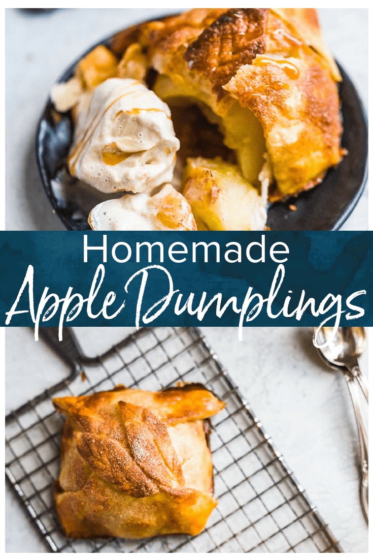 Apple Dumplings Are The Perfect Fall Treat I Love Eating Anything Apple During Autumn And This Apple Dumpling Recipe Recipes Dumpling Recipe Apple Dumplings