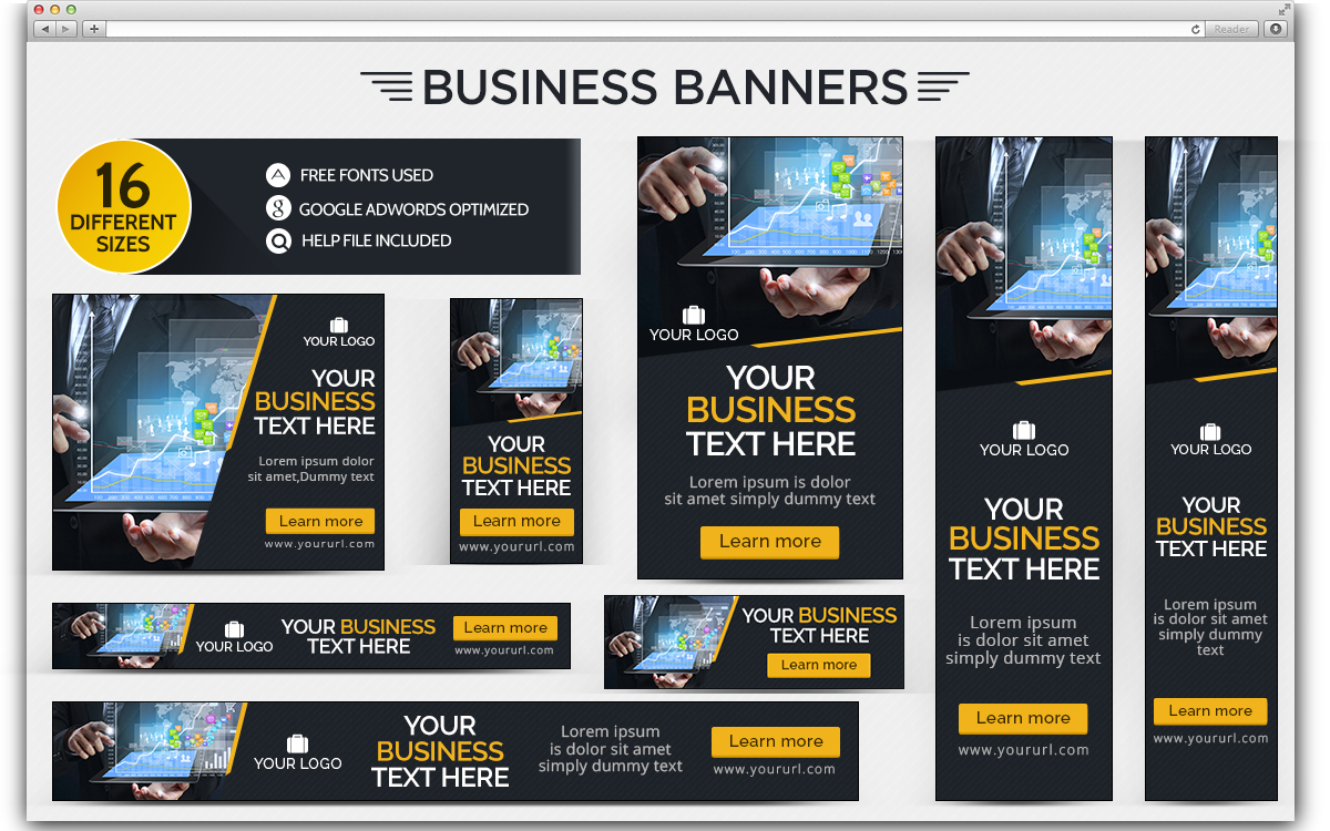 Professional Business Banner Design PSD Template | Banners, Psd ...