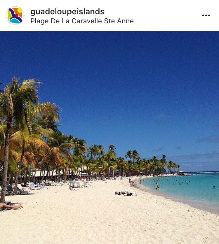 Guadeloupe Beach: Plage De La Caravelle, Sainte Anne, Guadeloupe In