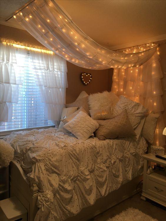 35 Fantastische Led Lichterketten Dekor Mädchen Schlafzimmer #tumblrrooms