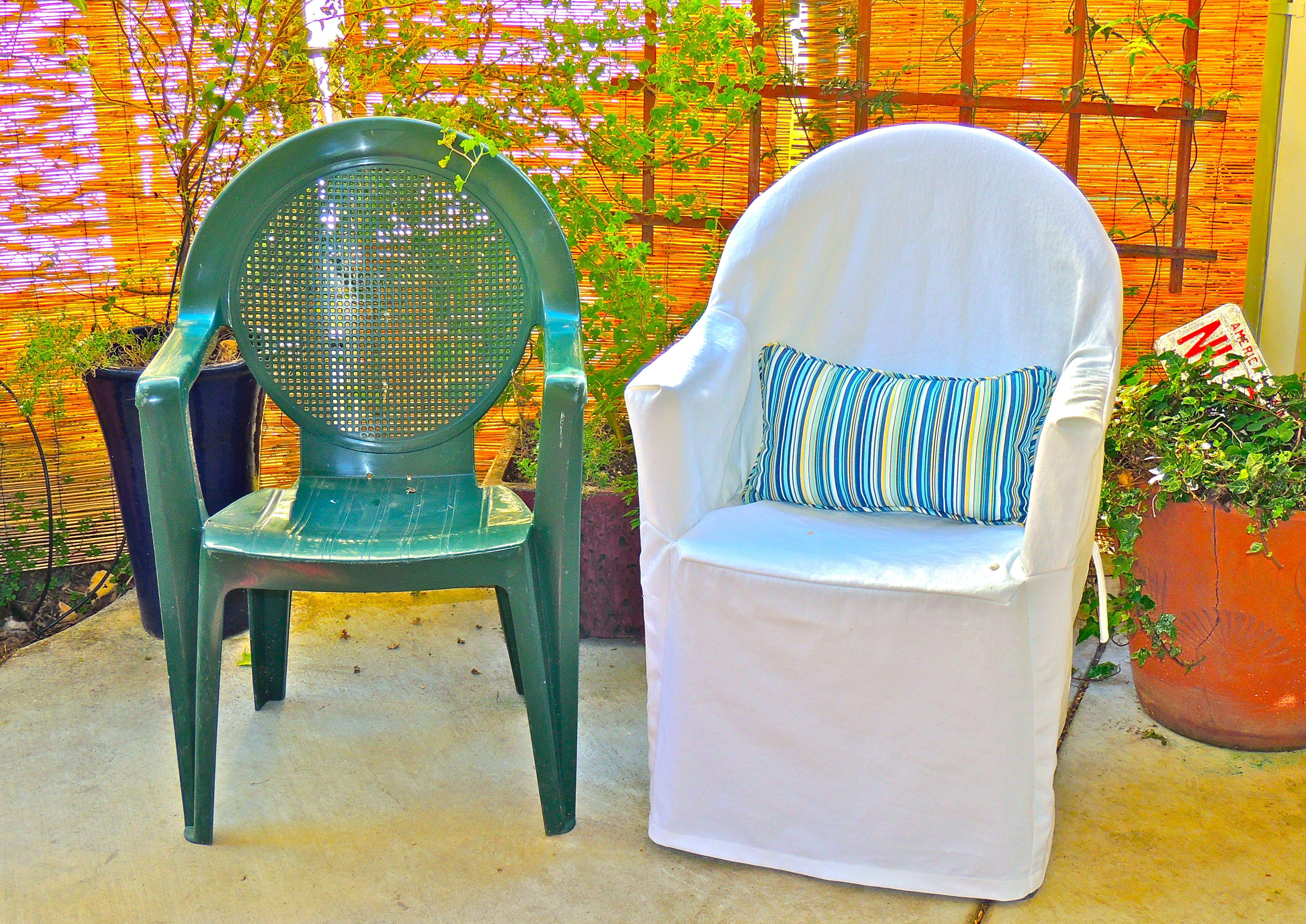 Frumpy to Fresh Plastic Chair Makeover Cadeira de