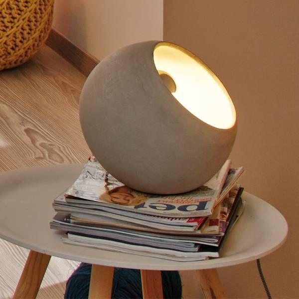 Tischlampe FIN aus echtem Beton Pinterest Future